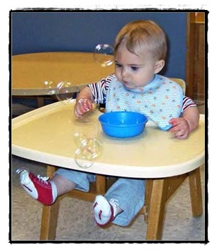 young child in a highchair