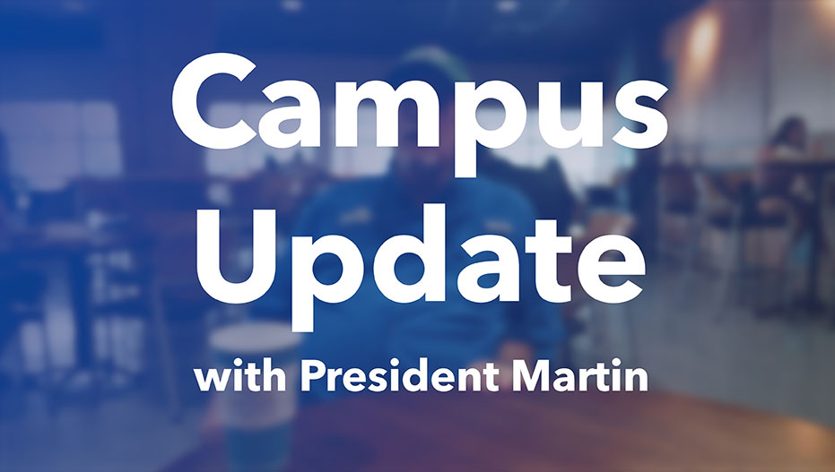 Photo background for FGCU update with Pres. Martin