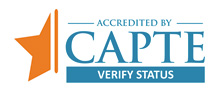 Accredited  by CAPTE - Verfied Status