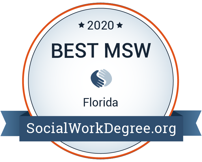 2020 Best MSW in Florida badge