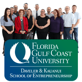 Photo of the faculty and staff team at the School of Entrepreneurship at Florida Gulf Coast University